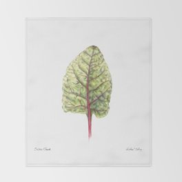 Swiss Chard Throw Blanket