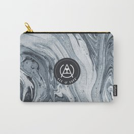Grey Swirls Carry-All Pouch