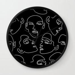 Face In The Dark Wall Clock