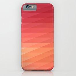Fig. 044 Coral, Pink & Peach Geometric Diagonal Stripes iPhone Case