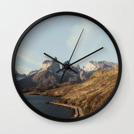 Patagonia Sunset Wall Clock