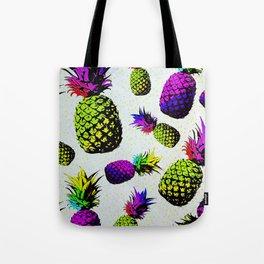 colorful pineapple pattren Tote Bag