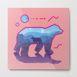 BEAR ~ Sign::dimension Metal Print