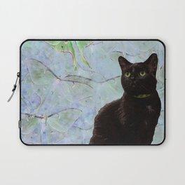 Luna Cat Gray Laptop Sleeve