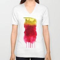 dexter V-neck T-shirts featuring Dexter. by Raphael Maturine