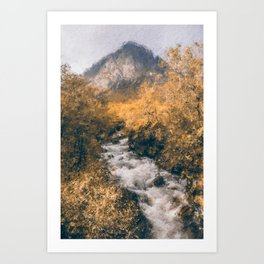 Isle of Skye, Panorama Art Print