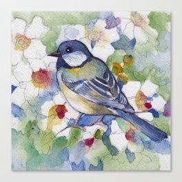Bird in Fall Canvas Print