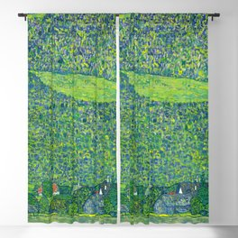 Klimt - Litzlberg on the Attersee (new editing) Blackout Curtain