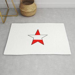 flag of austria 6 -Österreich,Austrian,Österreicher,Vienna,Salzburg,Mozart, Schoenberg Rug