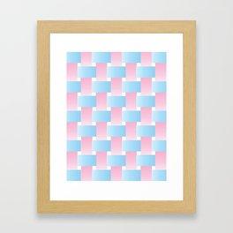 Pastel Lattice Background Framed Art Print