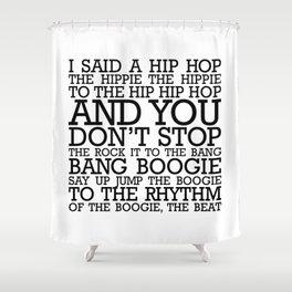 HIP HOP BOGGIE WHITE Shower Curtain
