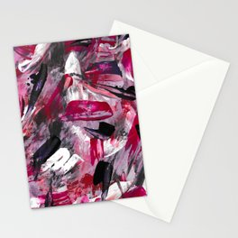 Pink Modern Abstract Wall Art Stationery Cards