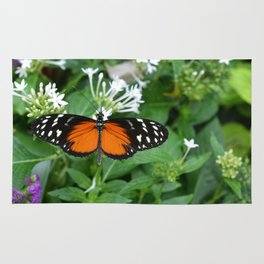 Orange and Black Butterfly Rug