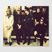 velvet underground Canvas Prints featuring The Velvet Underground by carlyborror