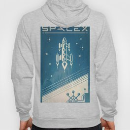 SpaceX retro-futuristic poster design Hoody