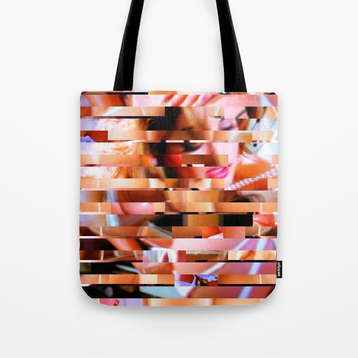 Dinner Party Glitch 1 Tote Bag