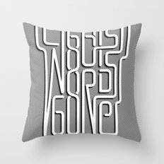 Lights Out, Words Gone Throw Pillow