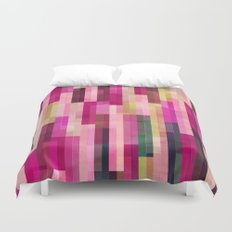 Pinks and Parallels Duvet Cover