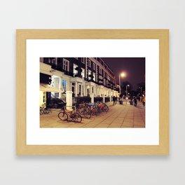 Kensington At Night Framed Art Print