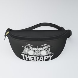 Drummers Therapy Drum Set Cartoon Illustration Fanny Pack