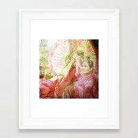 korean Framed Art Prints featuring korean smile by FarbCafé