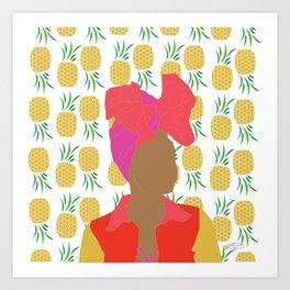 Pineapple Bawse Babe Art Print