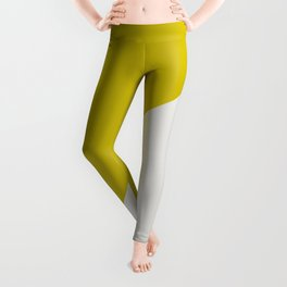 Ogre Yellow & Light Grey - oblique Leggings
