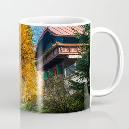 trekking path in an autumn day in the alps Coffee Mug