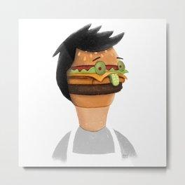 Burger Faced Metal Print