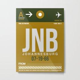 JNB Johannesburg Luggage Tag 1 Metal Print