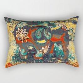 Elephant Art Rectangular Pillow