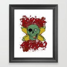 zombie hotdogs Framed Art Print