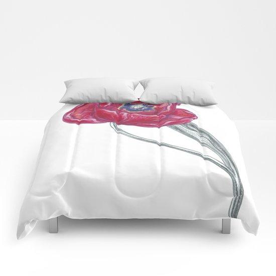 Tulip 04 Botanical Flower Comforters