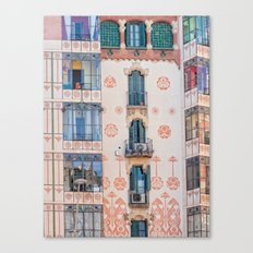 Surreal house in Barcelona. Canvas Print