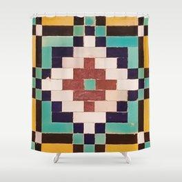 Iranian tiles Shower Curtain