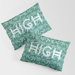 HIGH TYPO! Cannabis / Hemp / 420 / Marijuana  - Pattern Pillow Sham