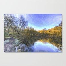 English Pond Art Canvas Print