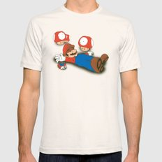 Tragic Ending-red Mens Fitted Tee Natural SMALL