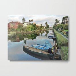 Venice Beach Canals Metal Print