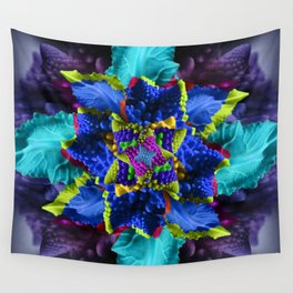 Trippy Vegetable Symmetry Wall Tapestry