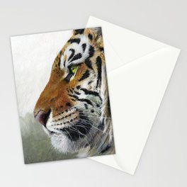 Tiger profile AQ1 Stationery Cards