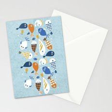 Fish Crowd Stationery Cards