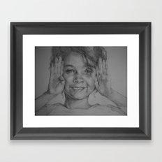 A smiling girl Framed Art Print