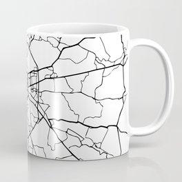 MOSCOW RUSSIA BLACK CITY STREET MAP ART Coffee Mug