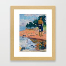 Paul Gauguin - Haere Pape Framed Art Print