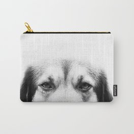 Dog portrait in black & white Carry-All Pouch