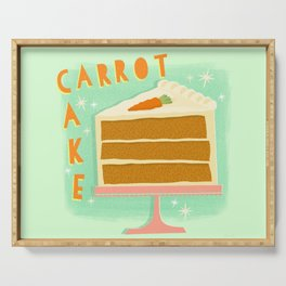 All American Classic Carrot Cake Serving Tray