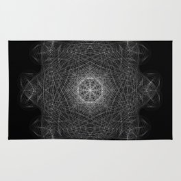 Cosmic Cymatics Mandala Rug