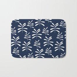 Bromeliads - indigo Bath Mat