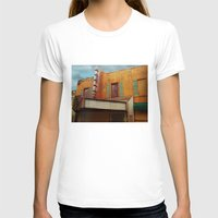 theater T-shirts featuring The Crumbling Martin Theater by Little Bunny Sunshine